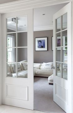 interest: French door styles and ideas in the . - Add architectural interest: French door styles and ideas indoors – French -Add architectural interest: French door styles and ideas in the . - Add architectural interest: French door styles an. French Doors Bedroom, French Doors Patio, Bedroom Doors, Patio Doors, Glass French Doors, French Patio, White Bedroom, Double Doors Interior, Interior Barn Doors