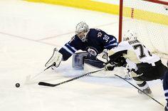 Connor Hellebuyck earns first career shutout