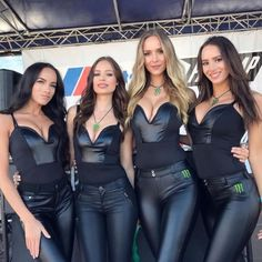 Soft and shiny. Sexy Outfits, Jean Sexy, Mode Latex, Monster Energy Girls, Tight Leather Pants, Promo Girls, Umbrella Girl, Look Girl, Rave Outfits