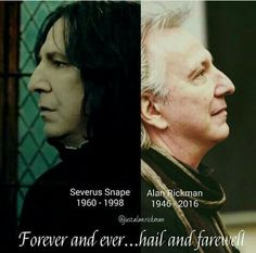 Forever and ever.hail and farewell.<<this is so sad. Did they just wish Alan Rickman/Snape goodbye with a shadow hunter goodbye? Mundo Harry Potter, Harry Potter Puns, Theme Harry Potter, Always Harry Potter, Harry Potter Cast, Harry Potter Characters, Harry Potter Universal, Harry Potter World, Severus Hermione