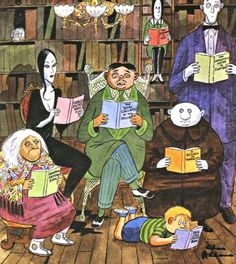The Addams Family reads.