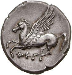 Statere - argento - Bruttium (350-300 a.C.) - Pegaso in volo vs.sn…