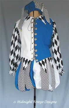 I always wanted to be jester and a fairy. ... Renaissance Jester Costume Men or Ladies by midnightbreezedesign, $150.00