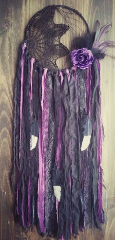 Hey, I found this really awesome Etsy listing at https://www.etsy.com/listing/471816833/black-purple-dream-catcher-boho