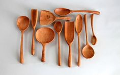 Joshua Vogel Sculptural Kitchen Tools are hand-carved, maple or cherry wood, functional objects. Each unique tool is part of a limited edition of 365 per year that celebrates a comfortable connection with daily chores and the love that goes into a home cooked meal.