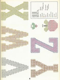 LETTERS AND NUMBERS FOR PLASTIC CANVAS by DICK MARTIN
