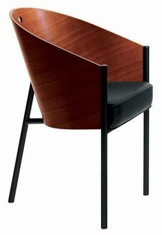 Costes Armchair - Wood seat Mahogany by Driade