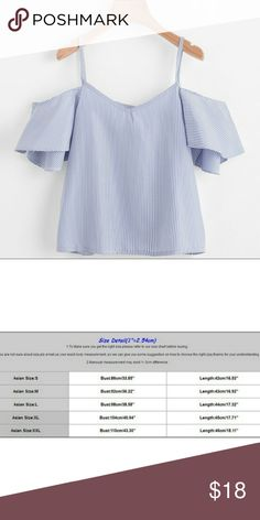 COMING SOON Super cute off shoulder top Please see size chart for measurements(this would be a M on the chart). Asian M, US S. Additional sizes available for pre order. Please comment if you would like to reserve a listing or receive notifications! Tops