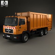 3D model of MAN F2000 Garbage Truck 1990 based on a Real object, created according to the Original dimensions. Available in various 3D formats. Download.