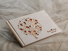 Custom Bigz Wood, Wooden Wedding Guest Book, Modern  Tree Guestbook, Laser Engraved Names Bride and Groom on Etsy, $54.83 AUD