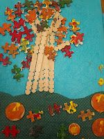Fall Tree collage -1st Grade