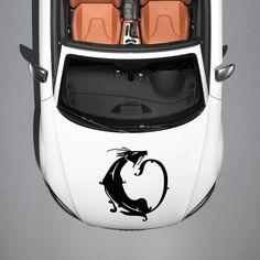 ANIMAL BLACK CAT KITTEN DESIGN HOOD CAR VINYL STICKER DECALS ART MURALS SV1401