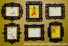 {Simple!} Kid Art Wall Display DIY says the frames are from Michaels and spray painted black