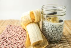 Banana Coconut Chia Seed Pudding - Slender Kitchen. Works for Vegetarian, Low Carb, Weight Watchers®, Paleo, Gluten Free, Vegan and Clean Eating diets. 190 Calories.