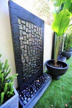 garden fountain garden design images gardening ideas - Adrian Home Garden Design Images, Garden Waterfall, Wall Waterfall, Waterfall Design, Design Jardin, Walled Garden, Water Walls, Water Features In The Garden, Garden Fountains