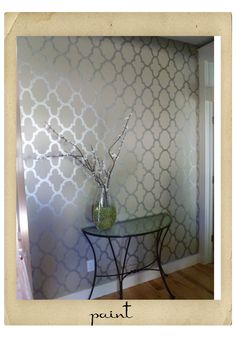 Metallic Paint For Walls allover stenciling with modern masters metallic paint | modern