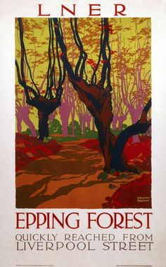 'Epping Forest ', LNER poster, 1923-1947.