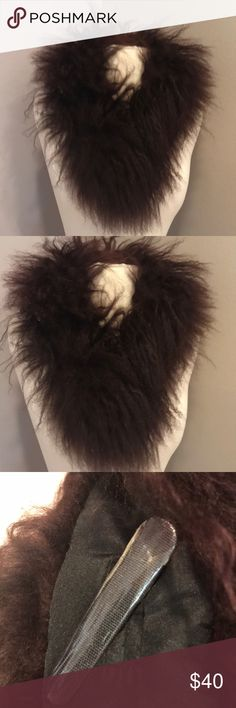 EUC SUPER COOL FURRY NECK WRAP BRAND NEW NEVER WORN ' ADRIENNE LANDAU ' FUR NECK WRAP. CHOCOLATE BROWN . FUN AND WARM . CAN ADD PIZZAZZ TO A REGULAR COAT. Looks great on a black or navy or beige coat! Really on anything Adrienne Landau Accessories Scarves & Wraps