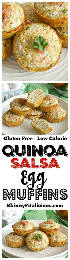 Loaded with flavor, texture and spice these Quinoa Salsa Egg Muffins are simple and versatile protein packed breakfast for on the go! Healthy Make Ahead Breakfast, Perfect Breakfast, Healthy Snacks, Healthy Recipes, Breakfast Ideas, Quinoa Mac And Cheese, Best Gluten Free Recipes, Egg Muffins, Breakfast Casserole