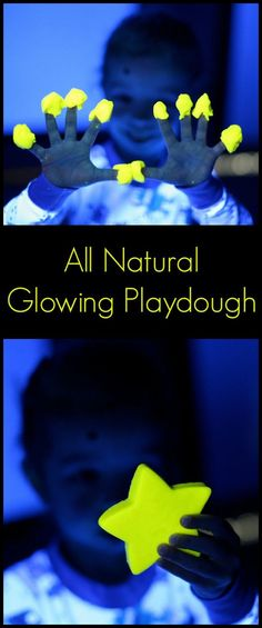 All Natural Glowing Playdough