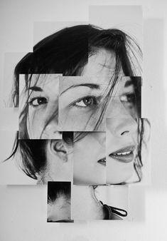 Portraits en photosculpture b in 2019 collage portrait, coll Photography Collage, Photography Projects, Creative Photography, Portrait Photography, Distortion Photography, Photography Backdrops, Newborn Photography, Photography Tips, Face Collage
