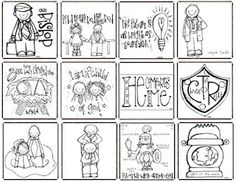 THE CUTEST church illustrations, great for lessons, FHE, keeping kids quiet in church...