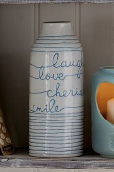 Buy Hand Painted Text Vase from the Next UK online shop