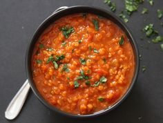 Here are 9 of the Best Ever Clean Eating Soup Recipes Which Are Really Healthy. These recipes are made with good healthy clean ingredients. High Protein Vegan Recipes, Vegetarian Recipes, Cooking Recipes, Lentil Soup Recipes, Red Lentil Soup, Butternut Soup, Butternut Squash, Clean Eating Soup, Soups And Stews