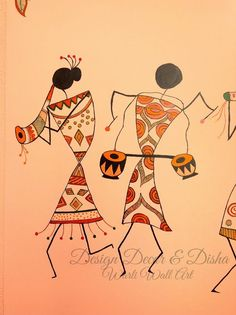 Contemporary Warli, tribal | warli warli painting, how to warli , indian warli painting, warli painting idea, how to make warli painting, indian arts, #warli #warlipainting