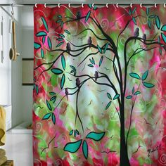 Madart Inc. 'Through The Looking Glass' Shower Curtain