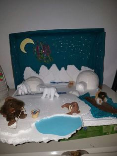Arctic Habitat, Bear Habitat, Polo Norte, Kindergarten Activities, Preschool Crafts, Crafts For Kids, Shoe Box Diorama, Ecosystems Projects, Polar Animals