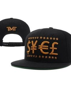 fe05cc37 TMT The Money Team Currency Black & Gold Snapback Hat Hat Sizes, Cap Store,