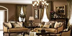 Use elaborate window treatments like swags, valances and tiebacks. Use fabrics that are silk, brocade and damask. Trim these with tassels, cords, braid and crystals to add more embellishments. You can also have a stained glass window if you are willing to spend money for it.