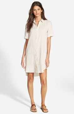 James Perse Linen Shirtdress available at #Nordstrom