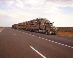 Road Train on the Stuart Highway in Australia.