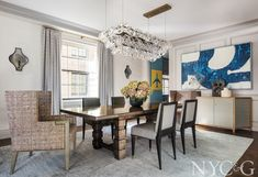 Tour a Beaux Arts Beauty Designed by Thom Filicia #diningroom #homedecorideas Room Interior Design, Best Interior, A Table, Dining Table, Thom Filicia, Entertainment Center Decor, Ceiling Fixtures, Dining Rooms, Cottage
