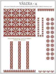 Semne Cusute: iie din OLTENIA, Valcea Folk Embroidery, Learn Embroidery, Embroidery Patterns, Machine Embroidery, Cross Stitch Borders, Cross Stitch Designs, Cross Stitching, Cross Stitch Patterns, Beading Patterns