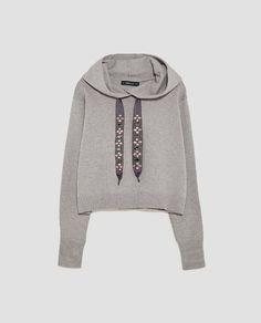 Shop Women's Zara Gray size M Sweatshirts & Hoodies at a discounted price at Poshmark. Zara Tops, Sweat Shirt, Knit Jacket, Knit Cardigan, Thing 1, Pullover, Signature Style, Ideias Fashion, Style Me