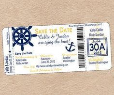 This custom Nautical Boarding Pass is perfect for a destination wedding invitati… This custom Nautical Boarding Pass is perfect for a destination wedding invitation, save the date, or any nautical themed party! Cruise Ship Wedding, Cruise Party, Boat Wedding, Yacht Wedding, Wedding Day, Chic Wedding, Perfect Wedding, Dream Wedding, Nautical Wedding Invitations