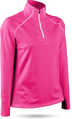 Stay warm in this Hot Pink Sun Mountain Ladies & Plus Size Thermal Wear SECOND LAYER Golf Pullover! Get this at #lorisgolfshoppe now!