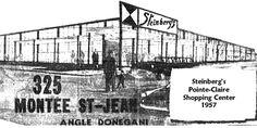 "Steinberg's on St-Jean boulevard, Pointe-Claire, Now a ""Metro Plus"" store Berg, Quebec, Transformers, Claire, Mall, Nostalgia, Canada, Photos, Vintage"