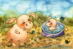 Купание.  Pig