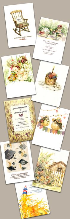 Cards and invitations by Le Thu, via Behance