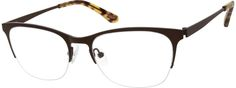 Order online, unisex brown half rim stainless steel wayfarer eyeglass frames model #161715. Visit Zenni Optical today to browse our collection of glasses and sunglasses.