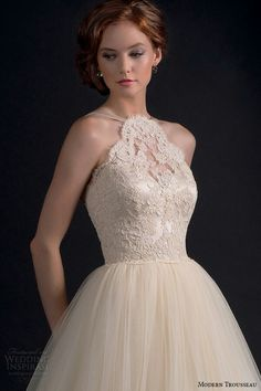 modern trousseau fall 2016 bridal gowns beautiful a line wedding ball gown dress halter neck lace embroidered bodice tulle skirt style adore closeup -- Modern Trousseau Fall 2016 Wedding Dresses 2016 Wedding Dresses, Wedding Dress Trends, Wedding Gowns, Lace Wedding, Modern Trousseau, Wedding Dress Necklines, Ball Gown Dresses, Dresses Uk, Nice Dresses