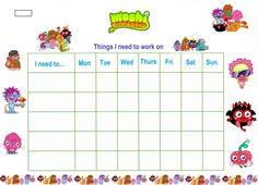 Printable Reward Chart With Stickers  Free Printable Reward Charts For Teachers