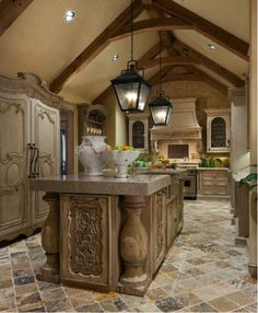 This Kitchen has almost a Moroccan feel to it.