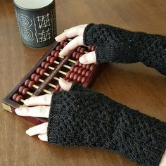 After my dad died earlier this year, my mum asked me to knit a pair of black fingerless gloves for her. I decided on something unspectacula...