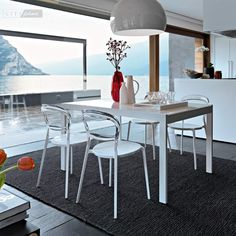 Key table extension glass by Calligaris