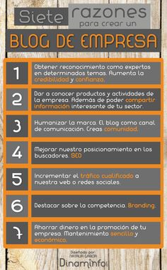 #infografia 7 razones para crear un blog de empresa via @natalia2g